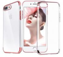 Coque contour coloré Iphone 7 / 8, Or Rose
