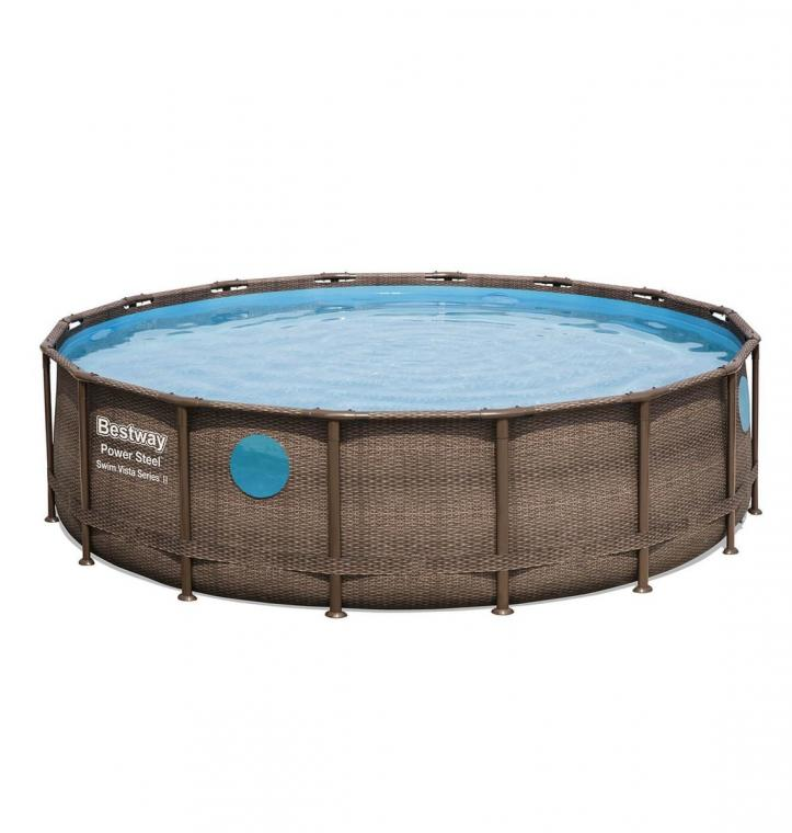 PISCINE BESTWAY POWER STEEL SWIM VISTA RONDE 4,88*1,22