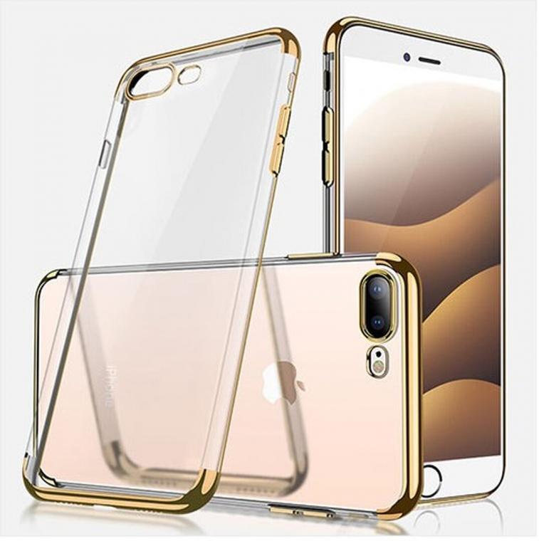 Coque contour coloré Iphone 7+ / 8+, Doré