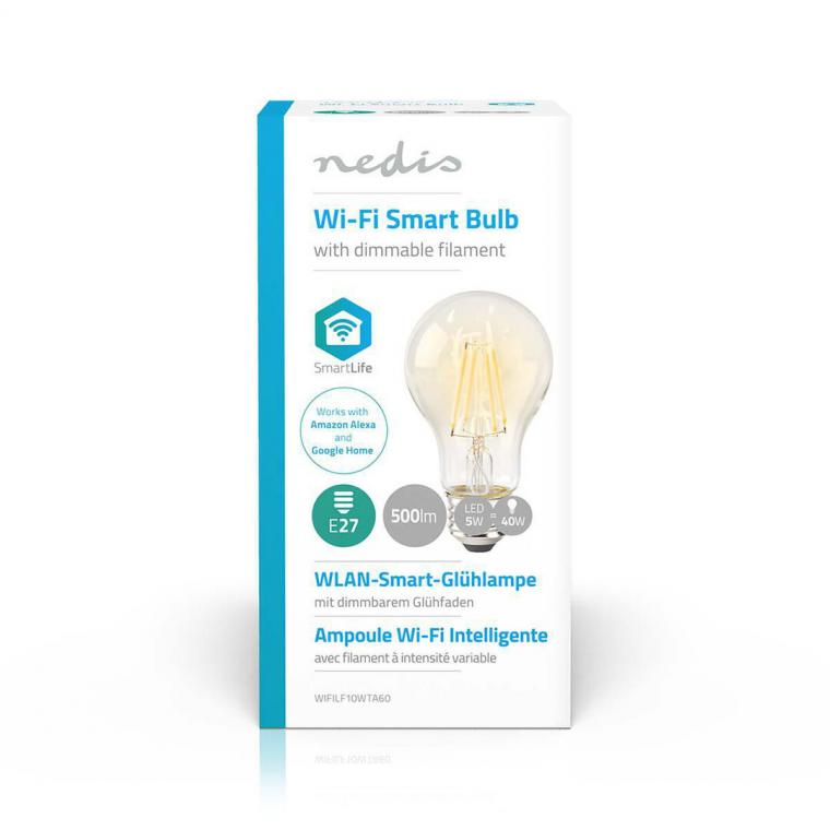 Ampoule filament LED WIFI E27 blanche A60